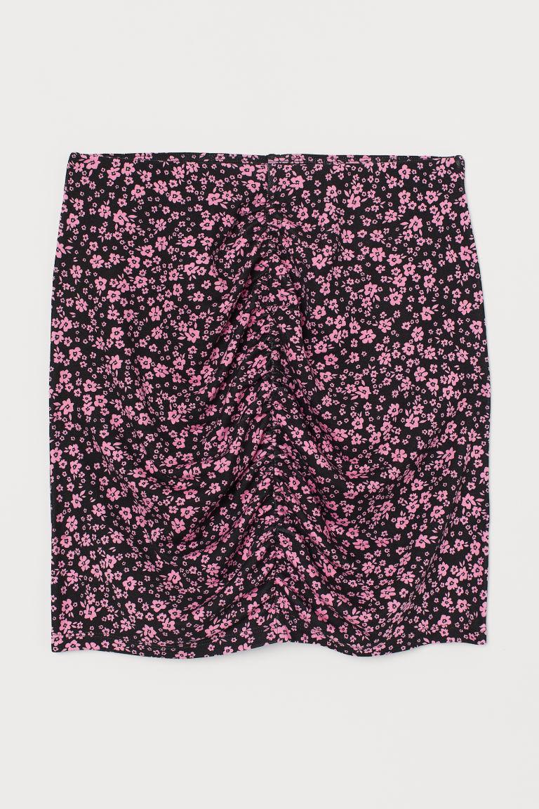 H & M - 垂墜感短裙 - 粉紅色