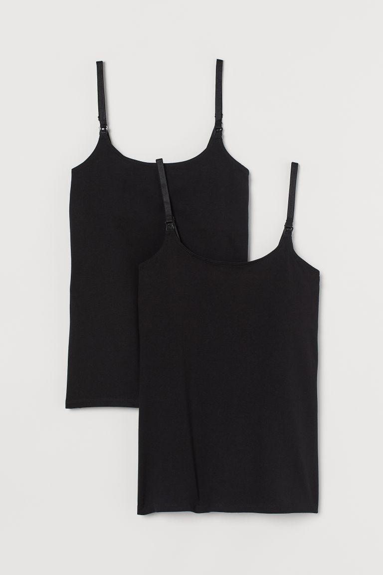 H & M - MAMA 2件入哺乳上衣 - 黑色