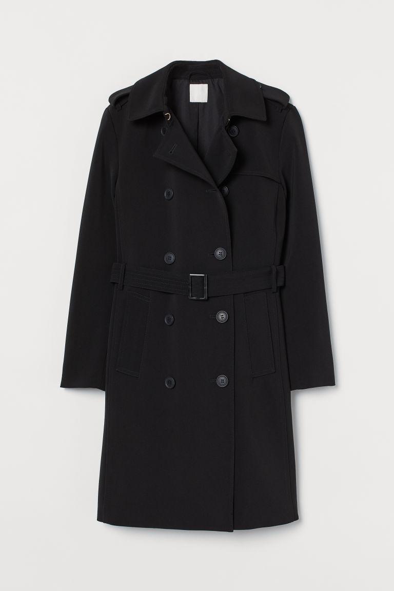 H & M - 風衣 - 黑色