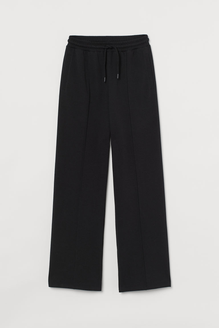 H & M - 寬鬆運動慢跑褲 - 黑色