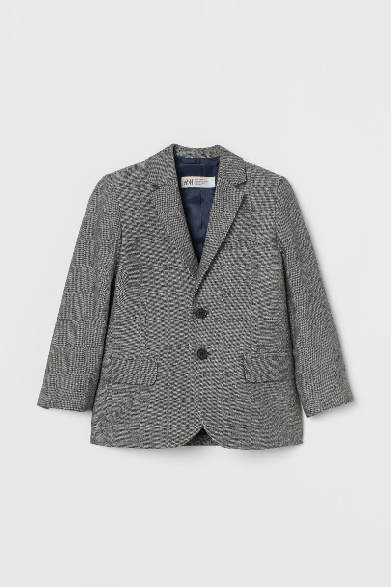 H & M - 肘部補丁棉質外套 - 黑色