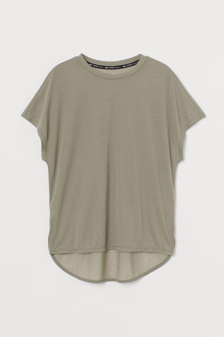 H & M - 萊賽爾混紡運動上衣 - 綠色