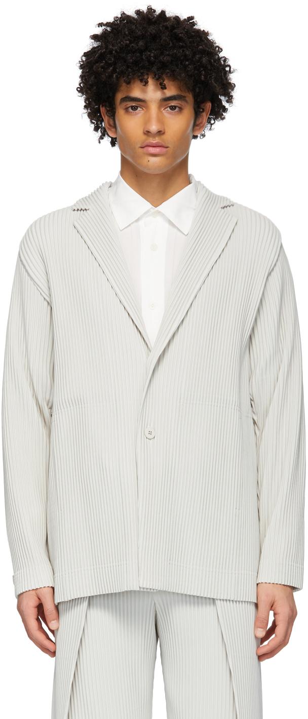 Homme Plissé Issey Miyake 灰色 Tailored Pleats 1 西装外套