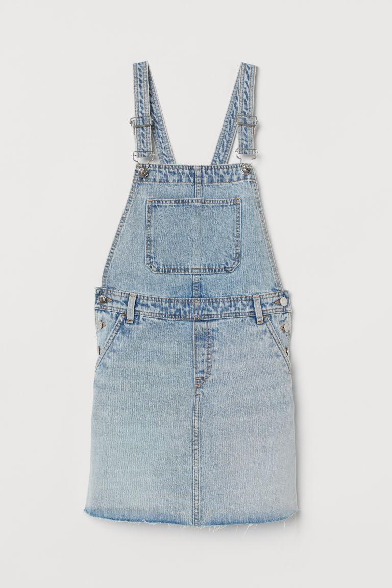 H & M - 丹寧吊帶裙 - 藍色