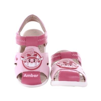 魔法Baby  女童鞋 台灣製POLI正版安寶款寶寶外出涼鞋 sa10203