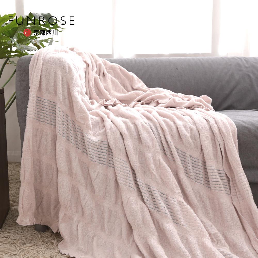 京都西川  / 泡泡紗毛巾夏毯 / 四季薄毯被 /  素色系列 140x200cm