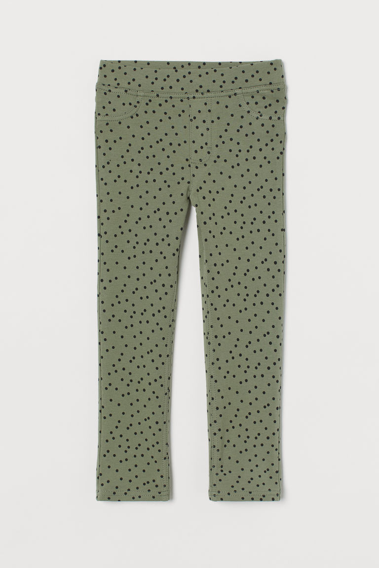 H & M - 緊身褲 - 綠色