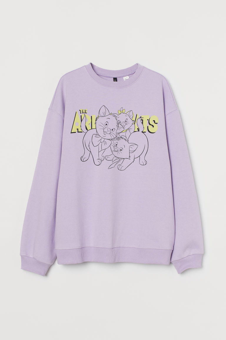 H & M - 圖案運動衫 - 紫色