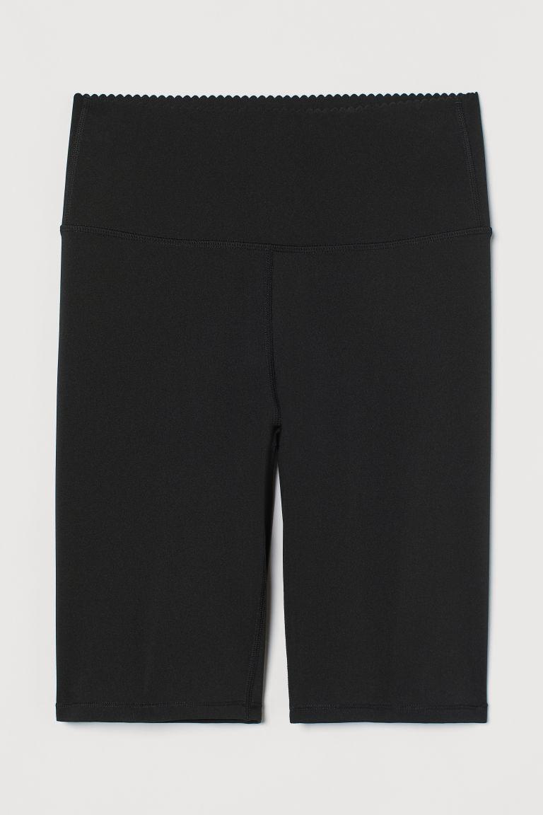 H & M - 塑身自行車短褲 - 黑色