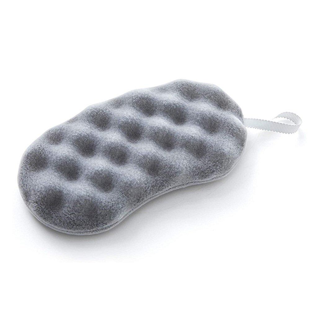 日本製COGIT手竹炭超細纖維沐浴海綿278754大(炭配合極細植毛加工,製壓接設計)洗澡海綿