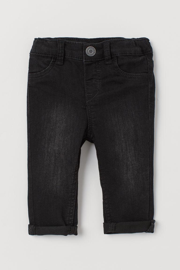 H & M - 窄管牛仔褲 - 黑色