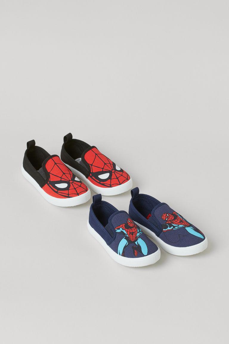 H & M - 2雙入懶人鞋 - 黑色