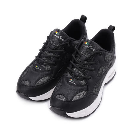 LEON CHANG 拼接綁帶氣墊鞋 黑 20200914004 女鞋