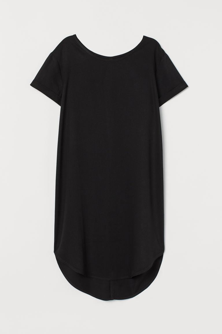 H & M - T恤短洋裝 - 黑色