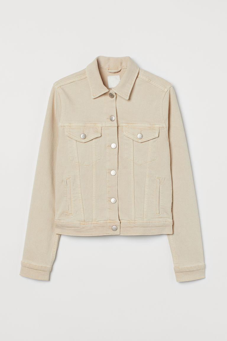 H & M - 丹寧外套 - 米黃色