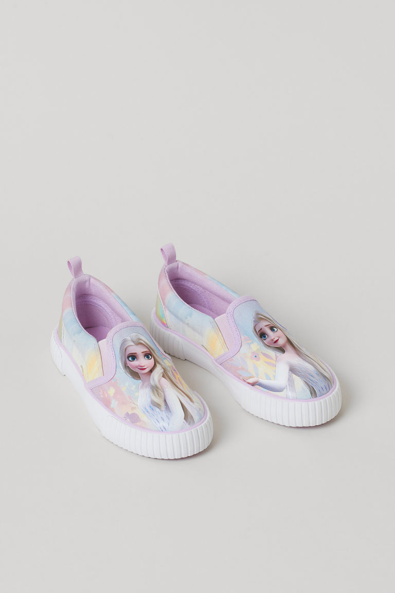 H & M - 圖案懶人鞋 - 紫色