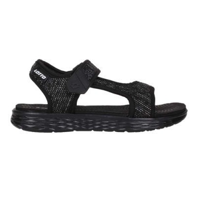 LOTTO 女輕量涼鞋-魔鬼氈 海邊 海灘 戲水 LT1AWS3370 黑白