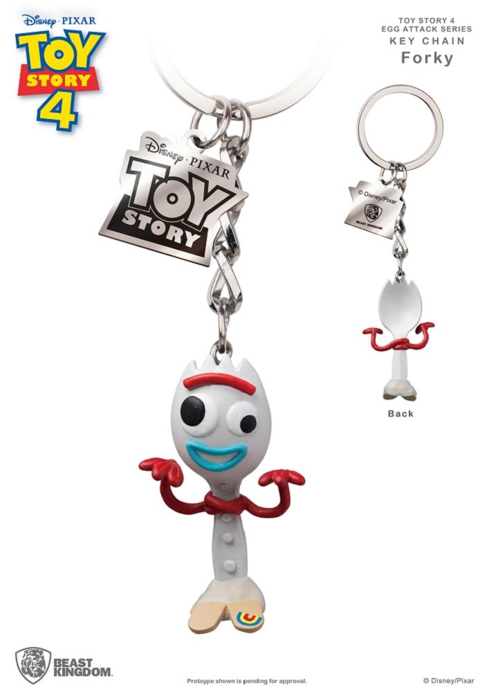 玩具總動員4 蛋擊公仔鑰匙圈系列 叉奇款