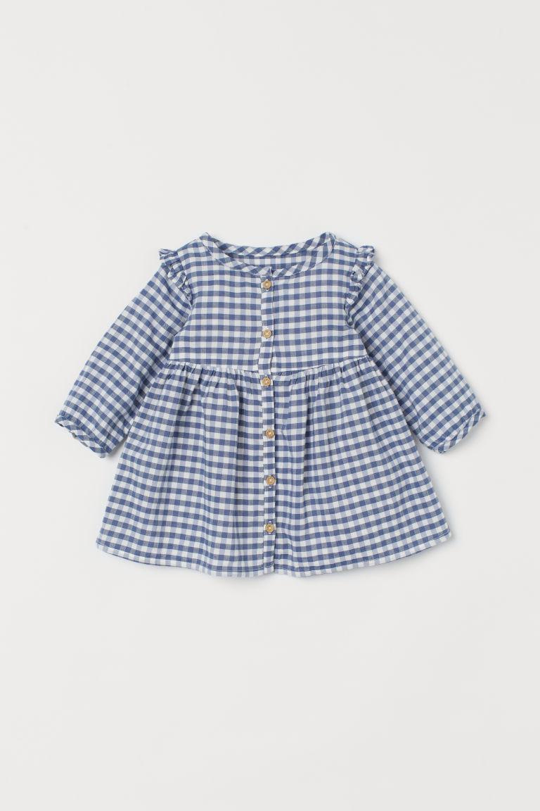H & M - 長袖洋裝 - 藍色