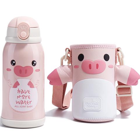 義大利ALL-JOINT動物王國保溫杯600ML-皮皮豬