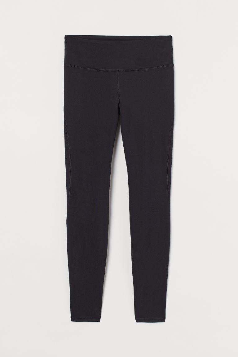 H & M - 緊身運動褲 - 黑色
