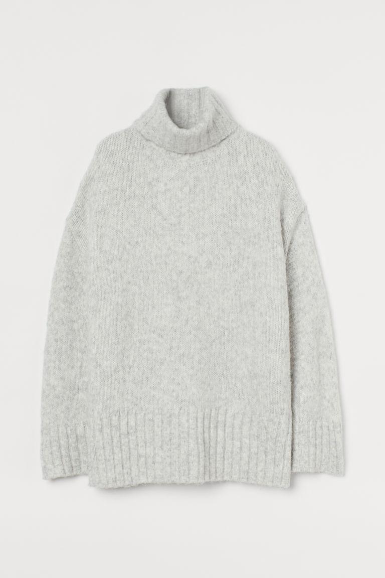 H & M - 圓高領套衫 - 灰色