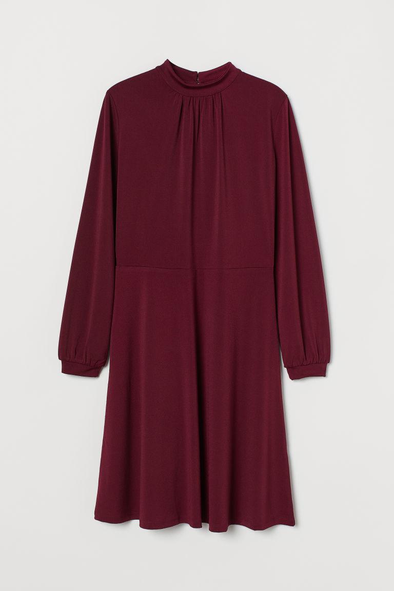 H & M - 平紋洋裝 - 紅色