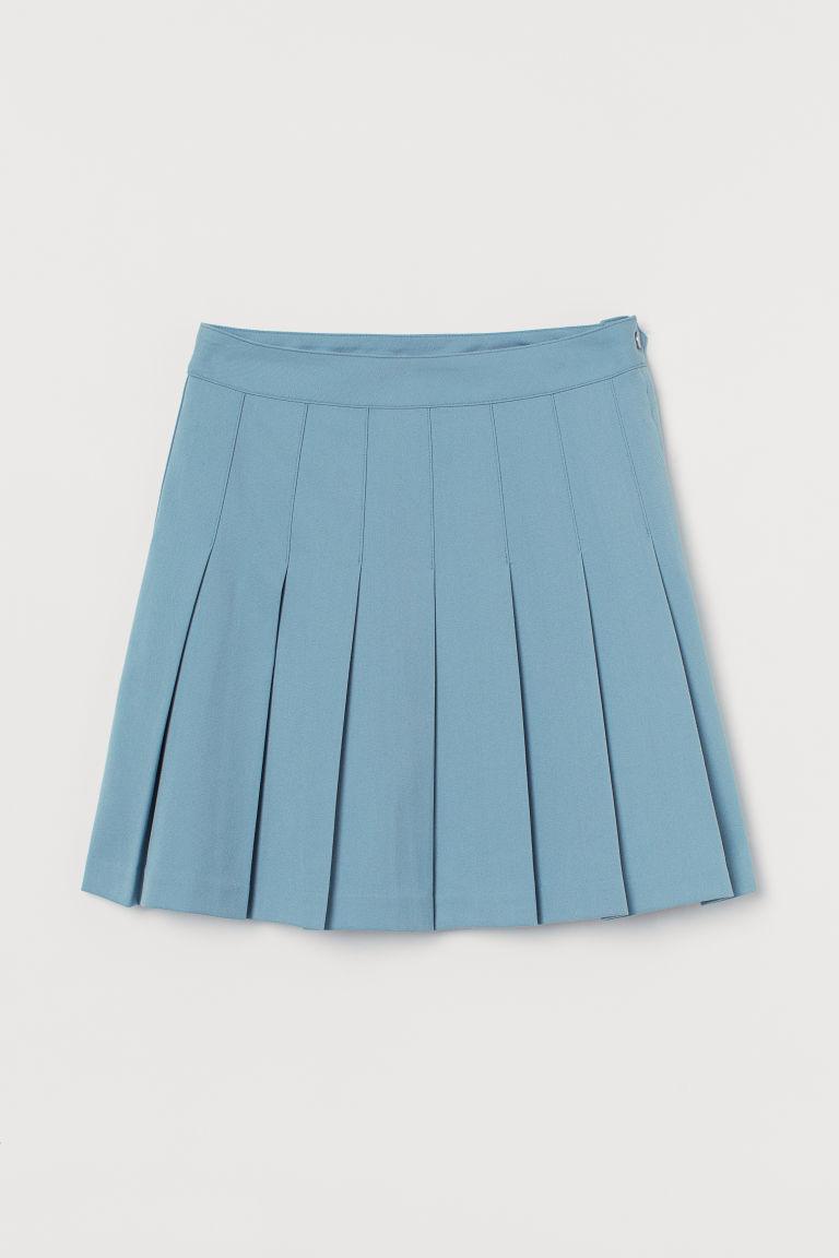 H & M - 百褶裙 - 藍色