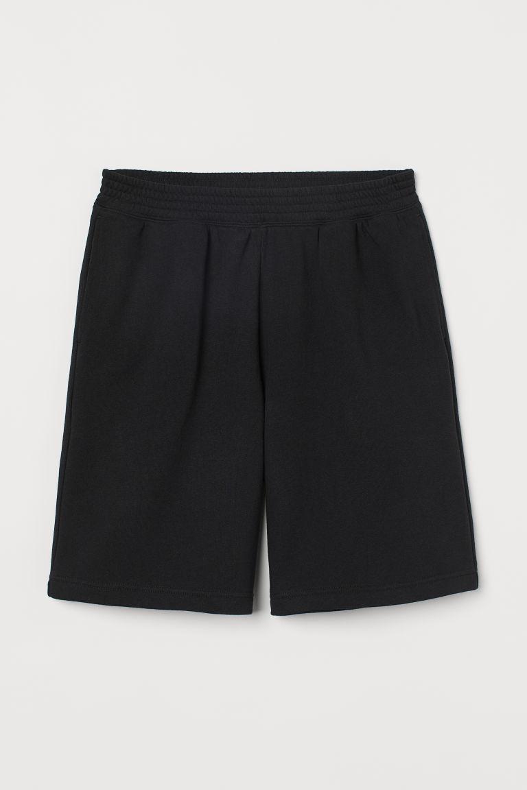 H & M - 寬鬆運動短褲 - 黑色