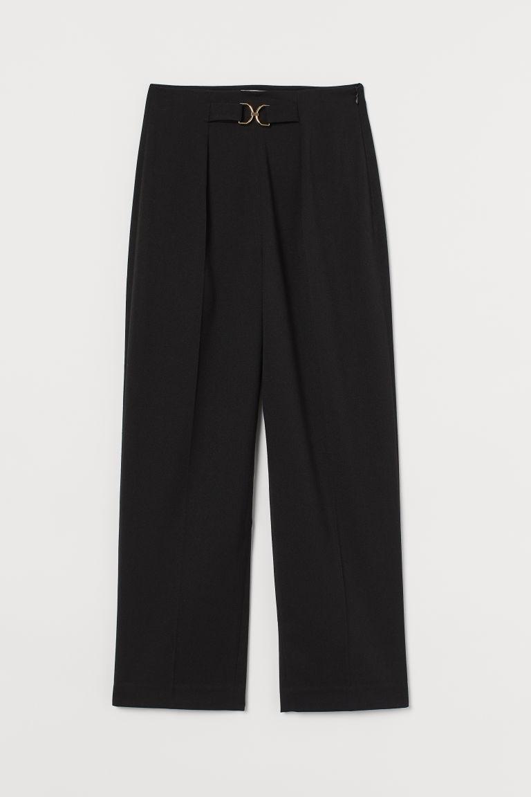 H & M - 九分褲 - 黑色