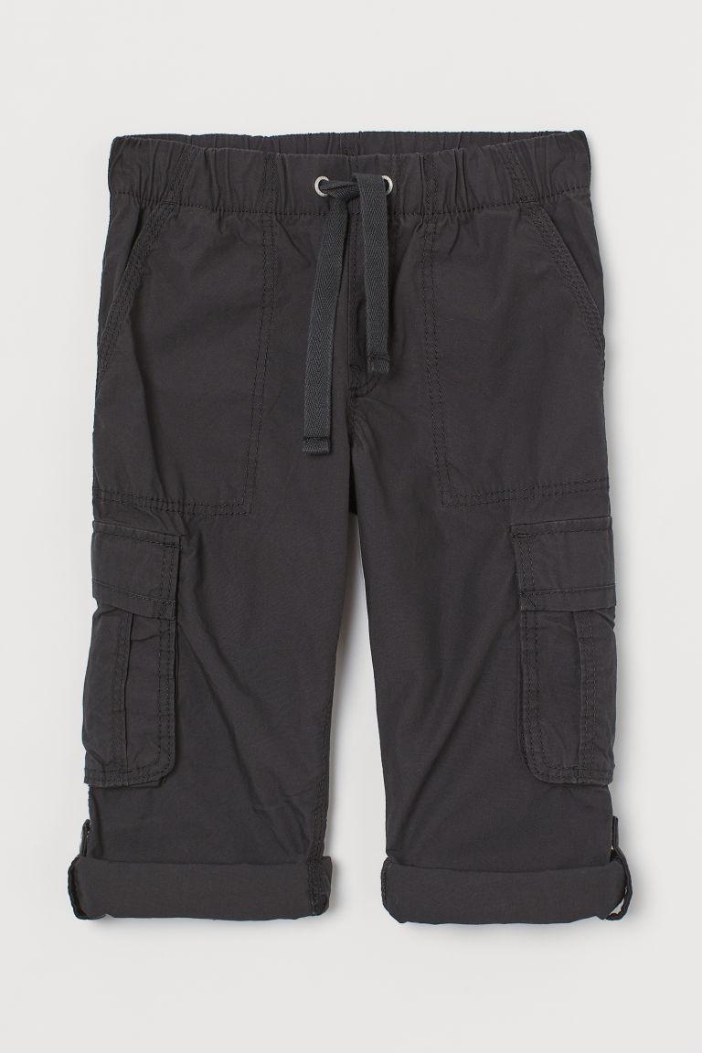 H & M - 休閒剪裁工作褲 - 黑色