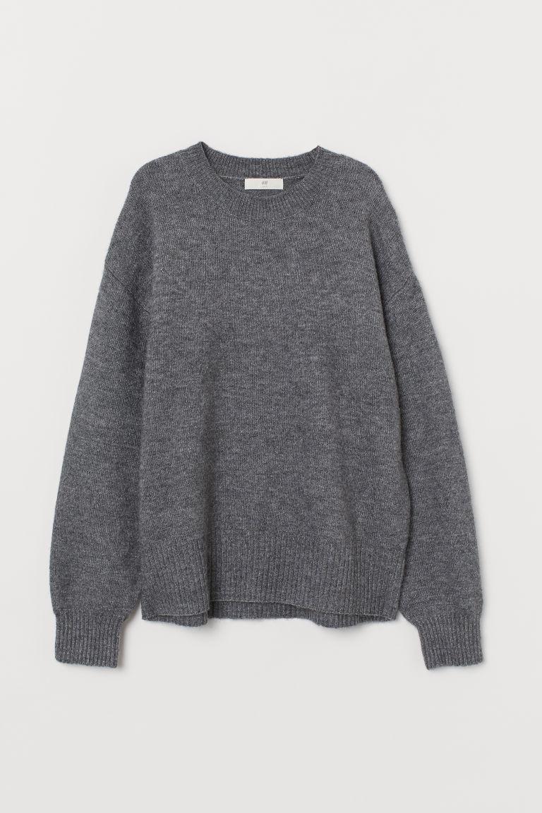 H & M - 精織套衫 - 灰色