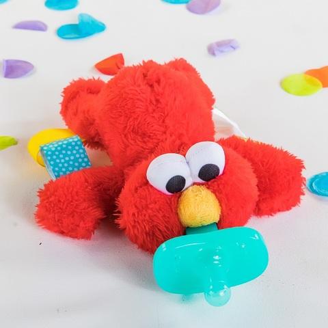 美國 Kids II-Oball-芝麻街安撫奶嘴布偶-艾蒙Elmo