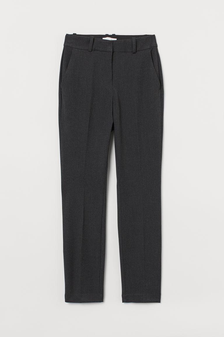 H & M - 煙管褲 - 灰色
