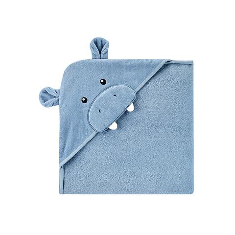 Carter's 台灣總代理 連帽造型浴巾-藍河馬(OSZ)