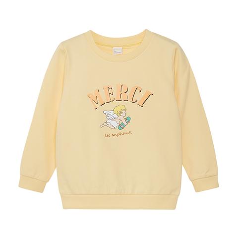 【EASY輕鬆系列】麗嬰房 童趣天使薄長袖上衣-淺黃 (76cm~130cm)