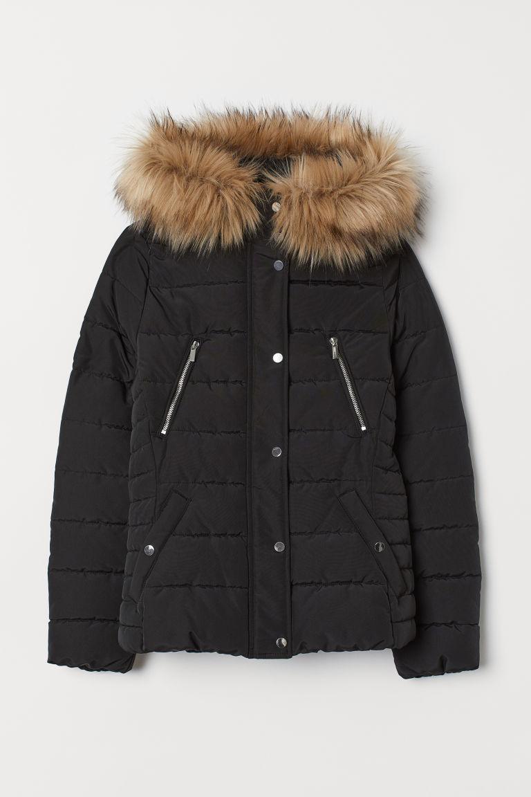 H & M - 鋪棉外套 - 黑色