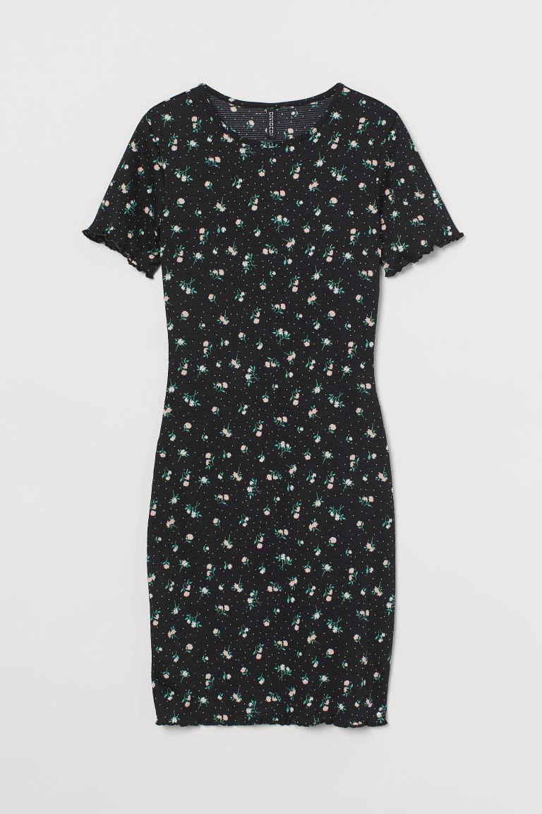 H & M - 縮褶洋裝 - 黑色