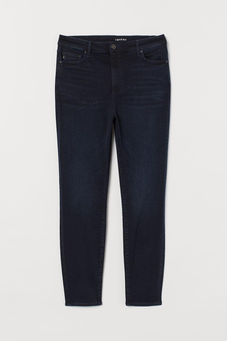 H & M - H & M+ 塑身高腰牛仔褲 - 藍色