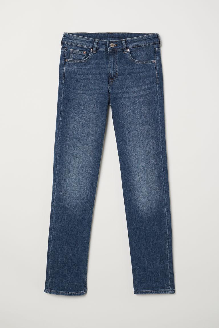 H & M - 直筒中腰牛仔褲 - 藍色