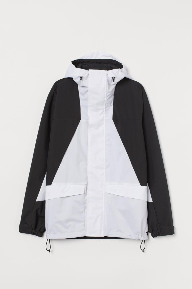 H & M - 防潑水保暖外套 - 白色