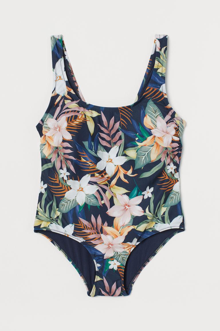 H & M - H & M+ 連身泳裝 - 藍色