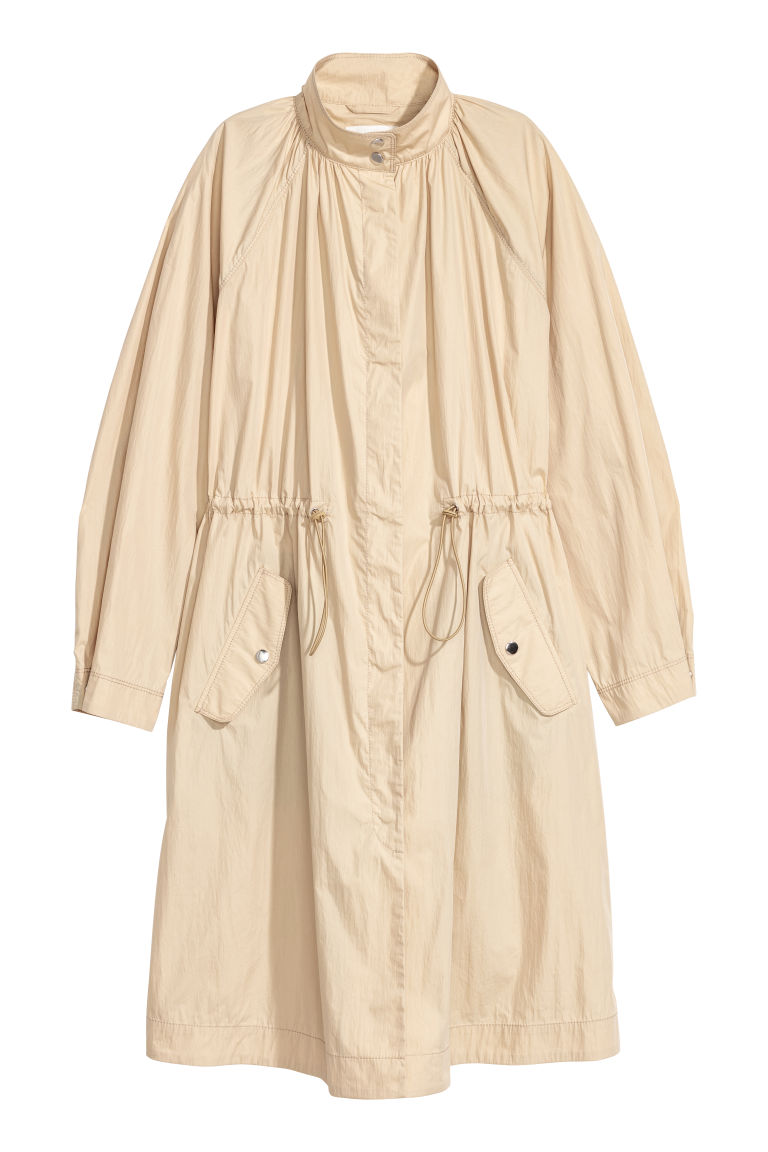 H & M - 風衣 - 米黃色
