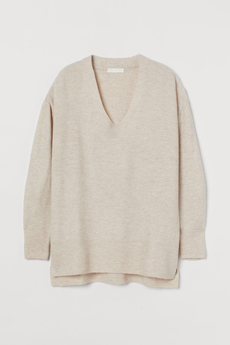 H & M - 套衫 - 米黃色