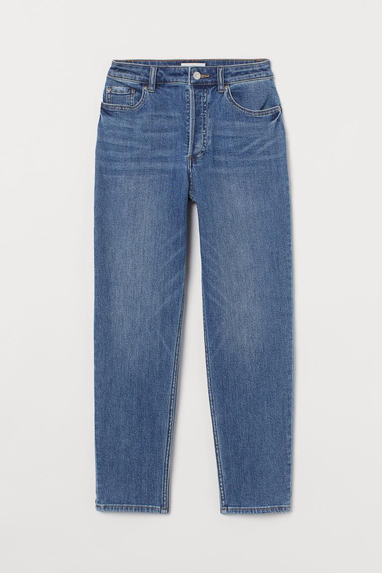 H & M - 直筒牛仔褲 - 藍色