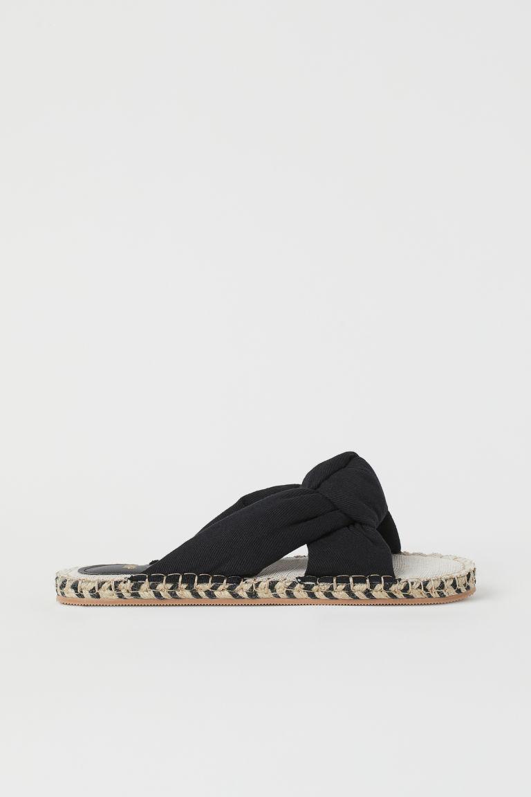 H & M - 結飾涼鞋 - 黑色