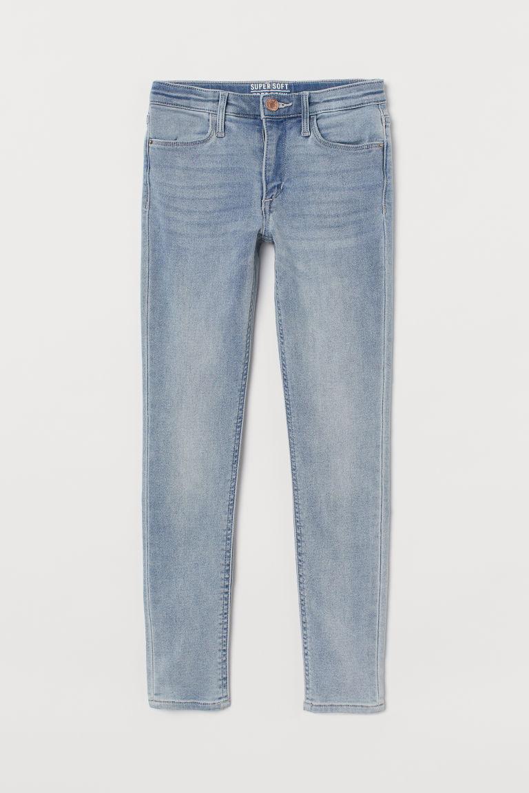H & M - 特柔窄管牛仔褲 - 藍色