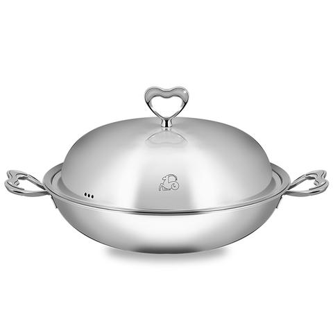 *Balzano 雙耳心形複合金炒鍋(32cm)