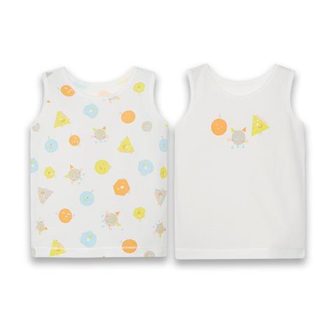 【Cloudy雲柔系列】麗嬰房 童趣純棉背心兩件裝-白色 (76cm~130cm)