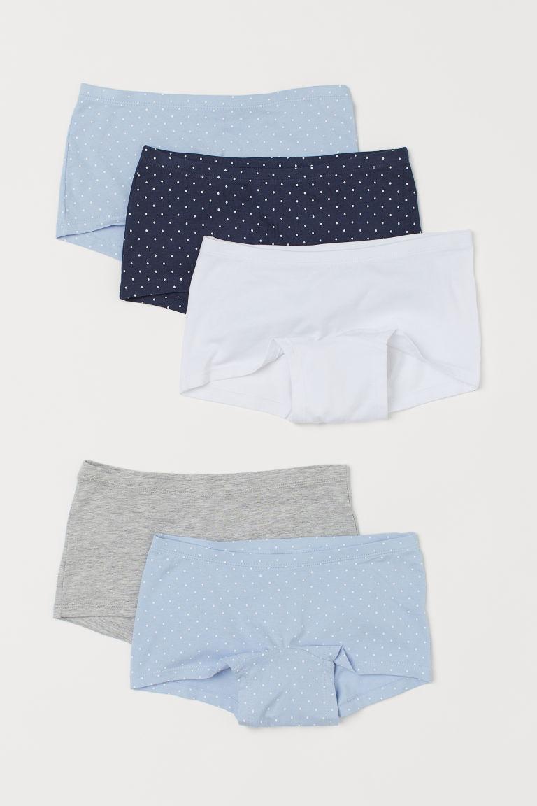 H & M - 5件入棉質平口內褲 - 白色